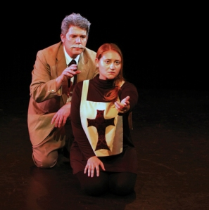 "Paul Middleton and Joanna Furgal in ""We All Fall Down""; photo by Stephanie Graner"