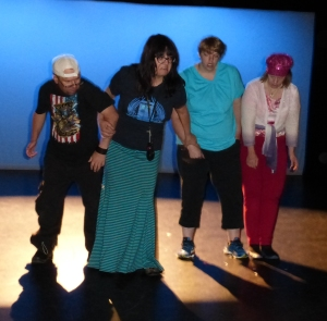 "James, Andie, Bridgett & Lydia in ""How to Get Down!"""