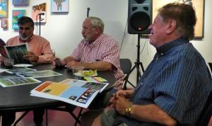 Rick Miera; Bob White and Leonard Stitelman