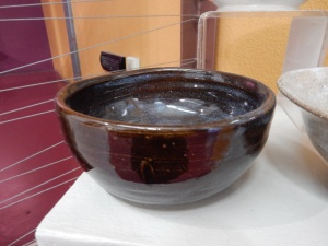 Bowl by Charles Chavez, Exploratory Arts Staff and clay artists.