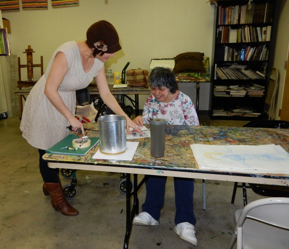 TAMARA AND HELENE in PAINTING AND DRAWING.